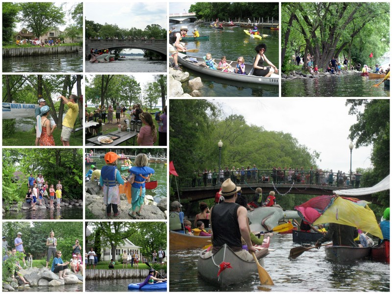 Collage of images from the 2013 Fools Flotilla