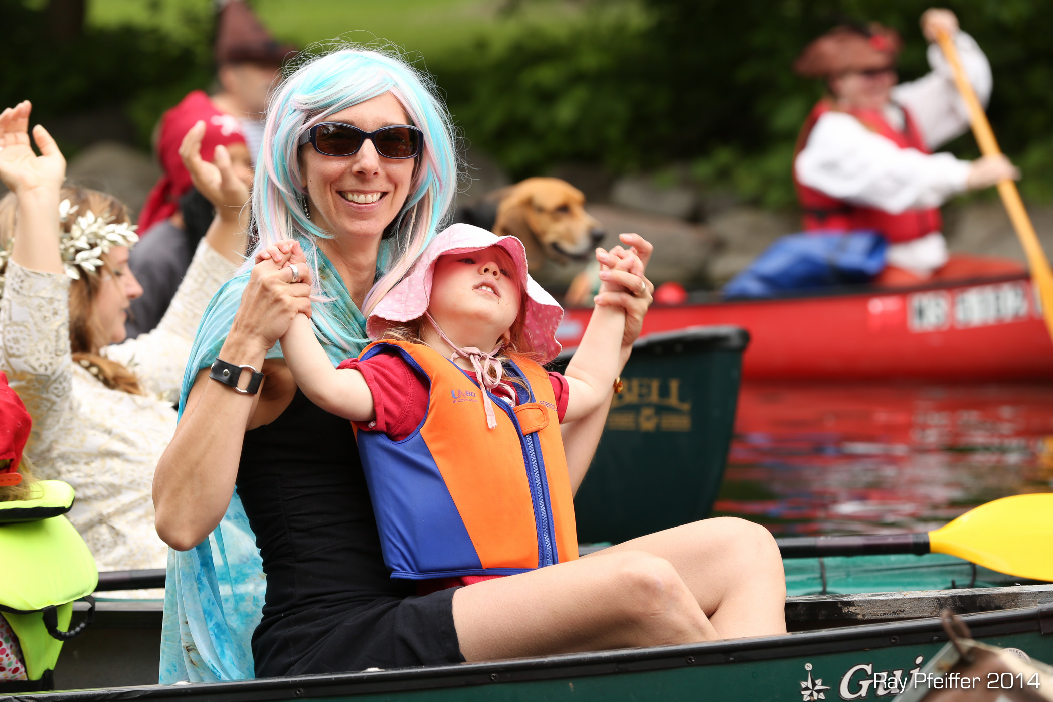 Jessica Becker in a canoe on the Yahara River