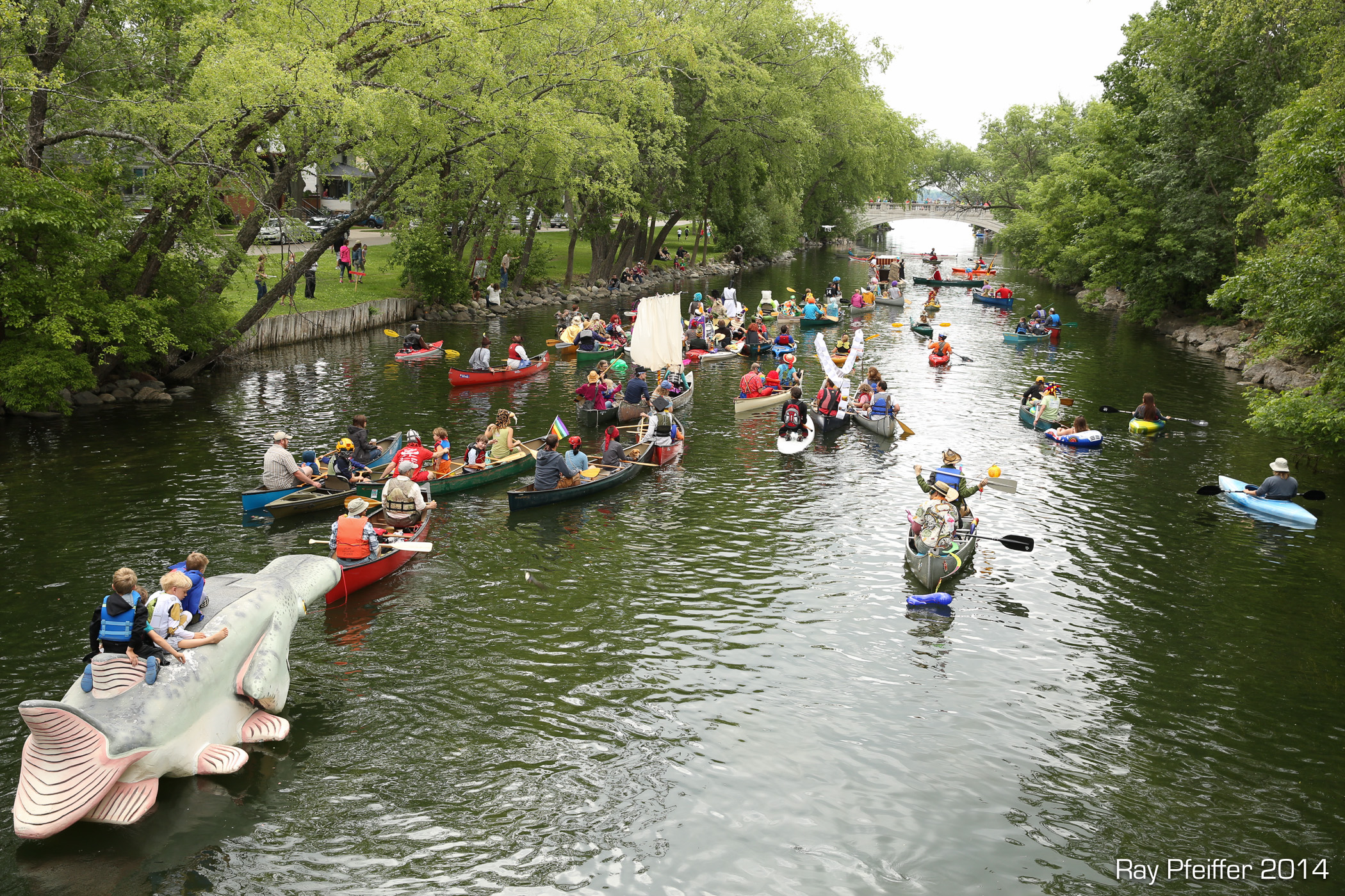 Fools Flotilla dumps into Lake Monona