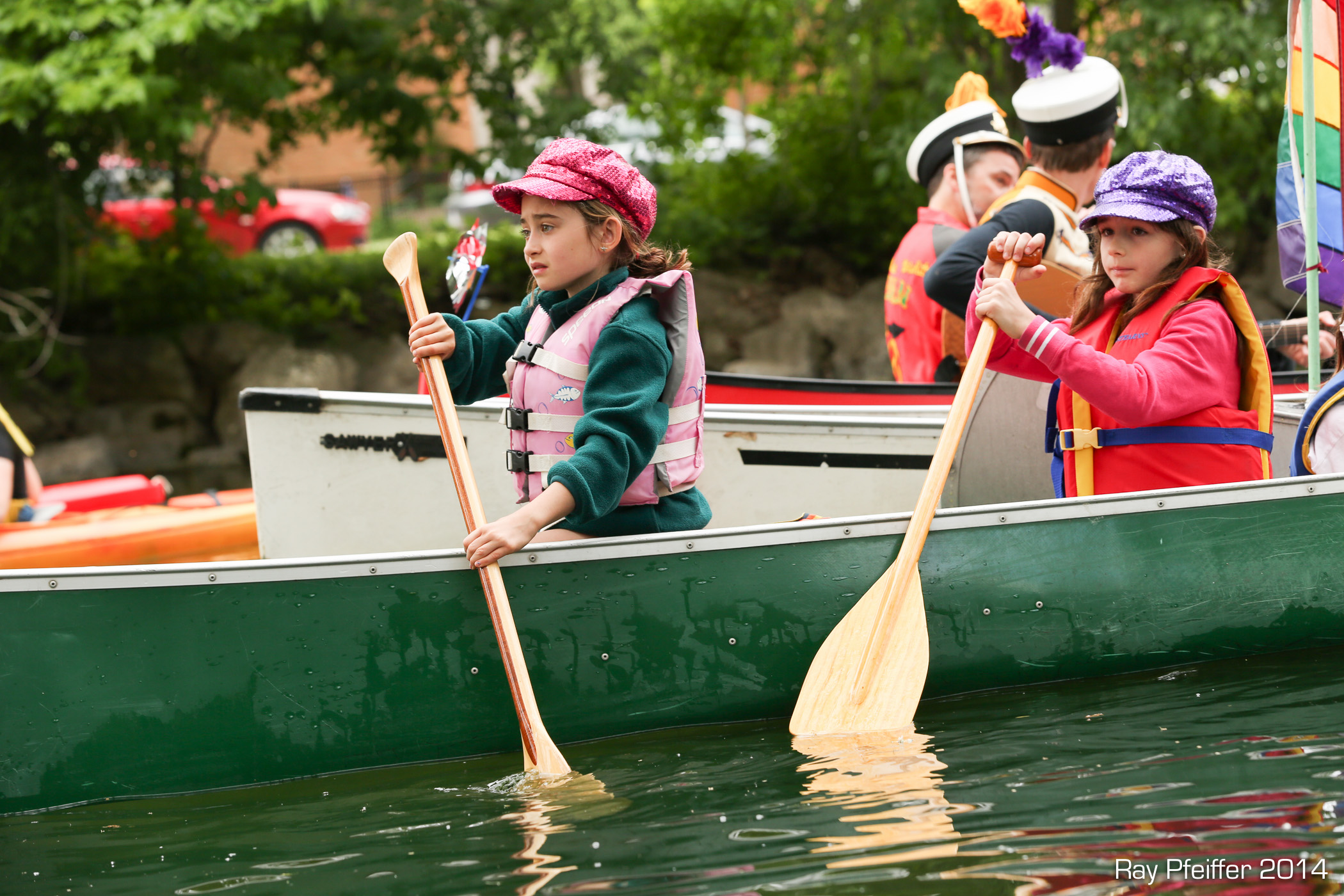 Young paddlers on the Yahara